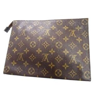 Auth LOUIS VUITTON Poche Trousse Handbag Bag #831